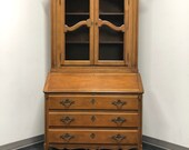 BAKER Collector 39 s Edition Walnut French Country Secretary Desk w Bookcase Hutch
