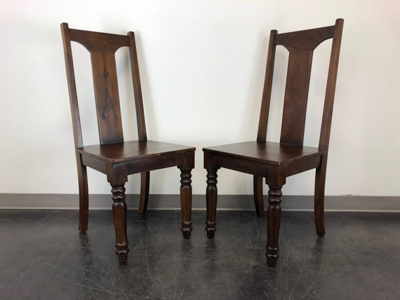 Magnificent Solid Mango Wood Dining Kitchen Chairs Pair 2 Machost Co Dining Chair Design Ideas Machostcouk
