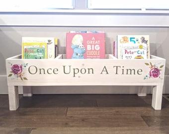 Bookshelf, Baby Nursery, Bookcase, Book Bin, Kids Storage, Bookcase, Book  Storage, Toy Storage, Kids Books, Kids Room Storage