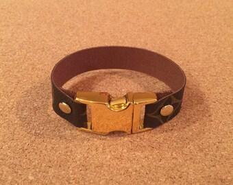 2ffdb7d4ed83c Unisex bracelet upcylced from authentic Louis Vuitton canvas