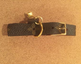 Adjustable dog collar made from authentic Louis Vuitton Canvas