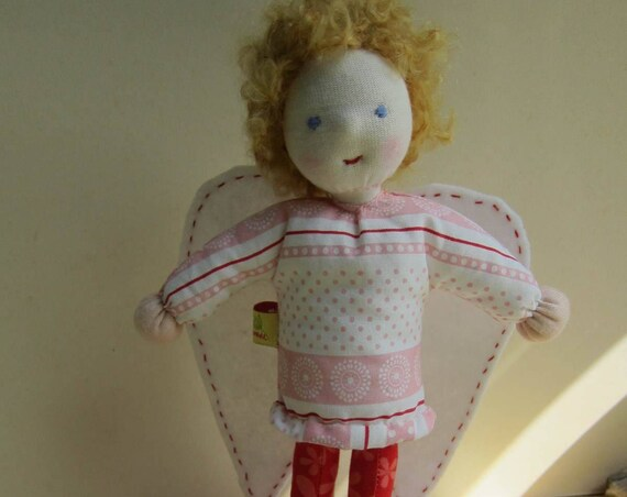 Guardian Angel, Pixie, soft Doll Alysia (9 inches) Angel doll, Christmas, baptism, new born doll