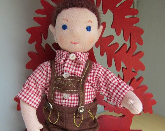 Georgy, Bavarian traditional doll, Munich doll, Lederhosen doll,  OOAK, Waldorf inspired, Oktoberfest
