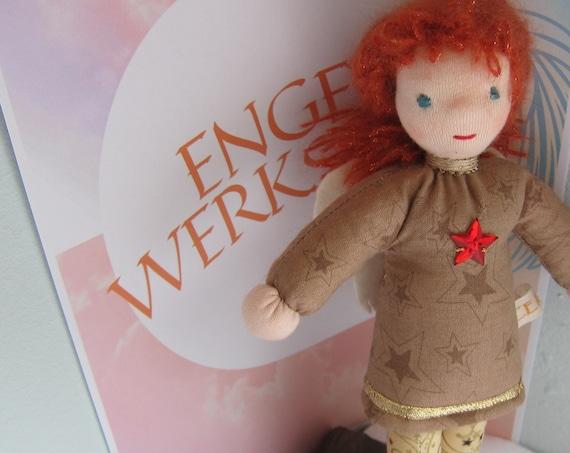 Birgit Guardian Angel,Sparkly Angel doll, Christmas Angel, collector's doll, Star Angel, Stars, Copper,