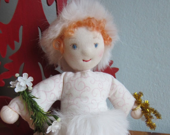 Christmas Angel, Bavarian doll with christmas wreath, Christmas Decoration, Angel doll, Christmas