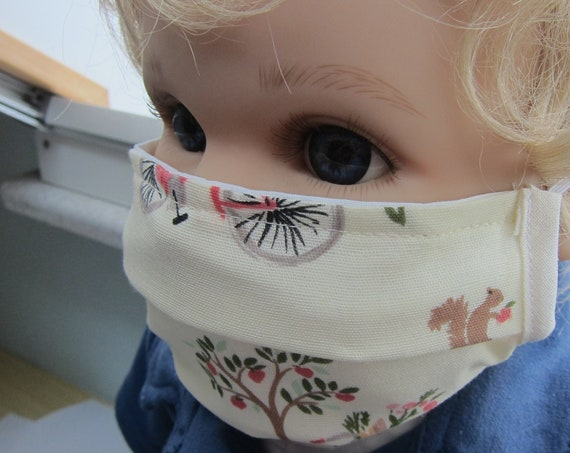 Kiddies Mouth and nose masks in made of 2 pieced cotton, school children not a medical product