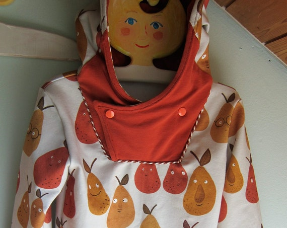 Autumn Baby Jersey Pullover with Hood, Happy Pears, Hoody with Bio Jersey in fall colors. 5 years (EU 110) Cheeky Fruit collection