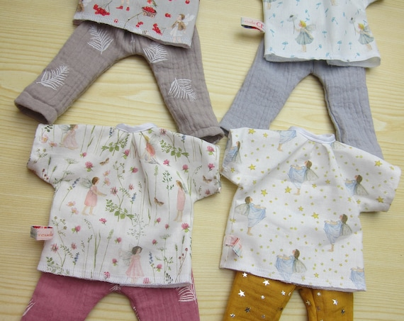 Doll Clothing Fairy Tunica with pants for Waldorf dolls in size 30-35cm