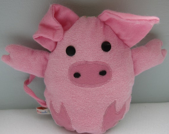 """Surprise Egg with """"Something-different-Egg"""" Piggy Fairytale Stuffed pig, 7.5 x 6 in, Easter Patchwork,  Spring, Summer"""
