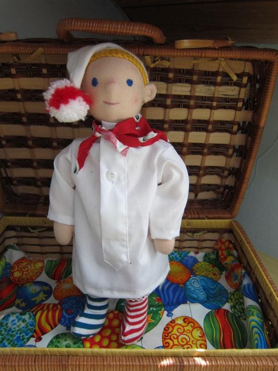 Sleepwalker doll, Bavarian Dorfner Faschings doll Waldorf style  Jonas,   OOAK, Collector's doll