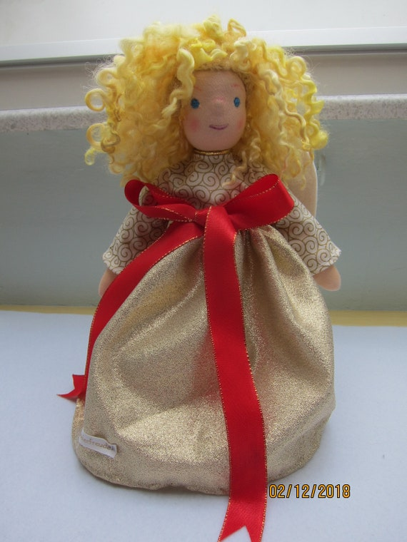 Guardian Angel doll,  Agnetha, Waldorf inspired, OOAK, Angel doll, collectors doll, collectible art doll, Christmas 12.5""