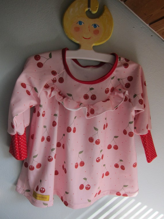 Sweet Girl's jersey tunica, Sweet Cherries US size 9 mo, (Eu 74-80) girl's Spring tunica out of the Cheeky Fruits collection