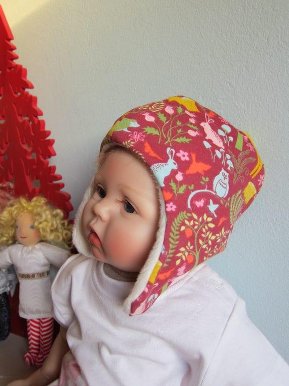 Beanie, ski hat, jersey cap, Woodland Theme  , Alpine fleece, Winter hat, Winter beanie