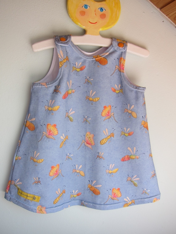Girl's Summer butterflies and co summer dress  Made to Order: Sizes 0 mo to 24 mo.