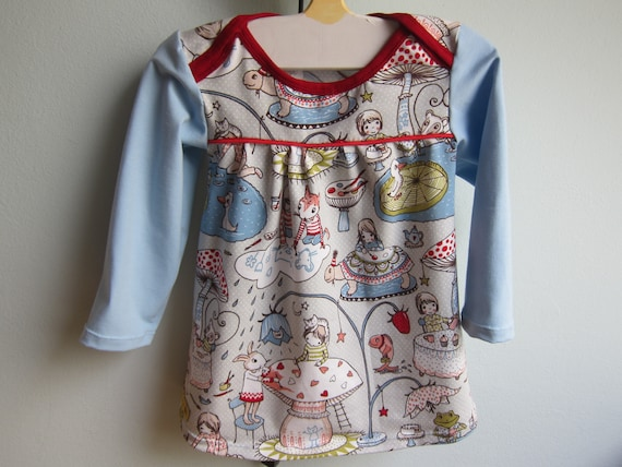 Longarm tunica with rabbits, children painting their play world jersey tunic  size 12 mo
