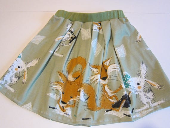 Girl's skirt, summer skirt, Tee time at Fox and Rabbit, fox and rabbit, size 5 (104)