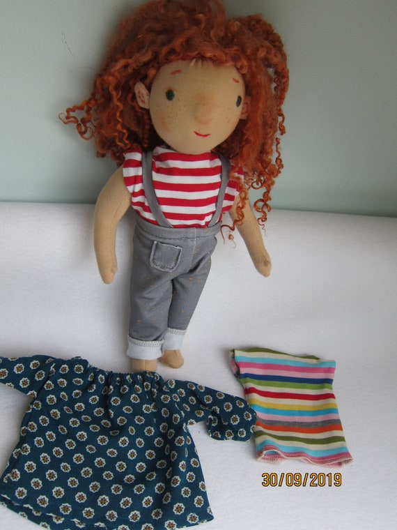 Doll Clothing blouse, t-shirt with pants for Waldorf dolls in size 30-35cm