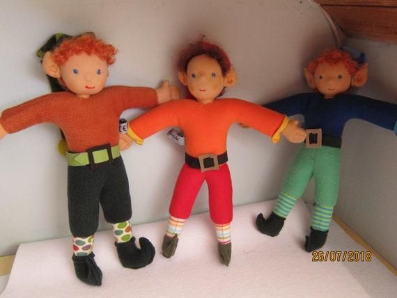 "Dwarf doll, dwarf, elf doll,  gnome doll, Spock Ears,  15"", OOAK, Waldorf inspired, Santa's helpers"