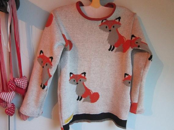 Jacquard knit sweater Baby long sleeve,  Bio cotton jacquard baby top- 98cm, 2T/3T, Autumn