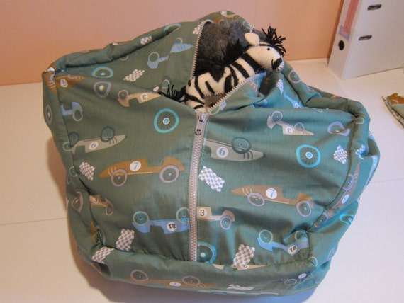 Sitting sack for children, bean bag storage for dolls and stuffed animals, storage sack, doll and animal storage, children's Toy Organizer