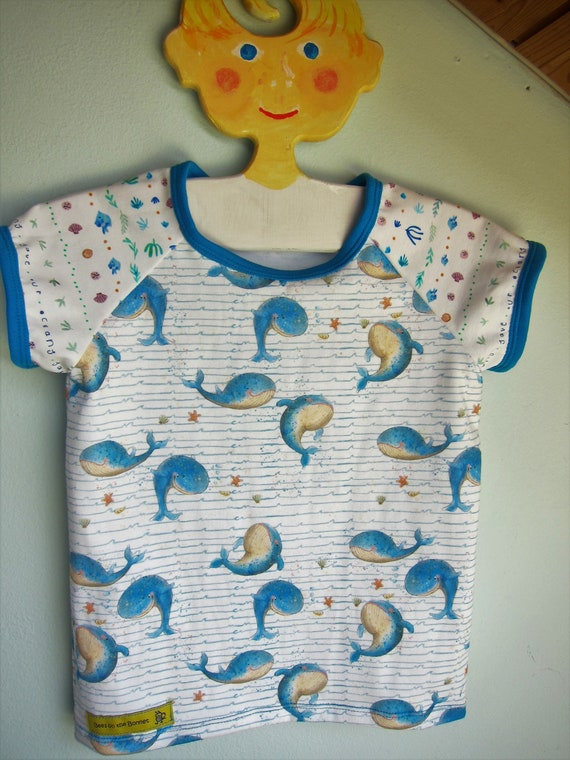 Marine Save the Whales baby t-shirt,  Bio shirt baby top- 86 cm, 18 Mo, holiday tee