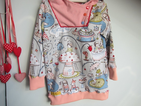 I paint my world in my colors! Pullover with Hood, Hoody made of jersey in pastel colors.