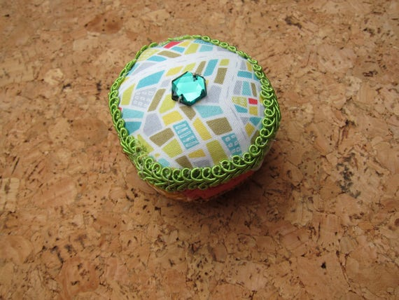 Patchwork Pin cushion, Pedestricans,  Patchwork Octagon, Christmas Deco, Mother's Day,  Valentine's Day, Anniversary, Present