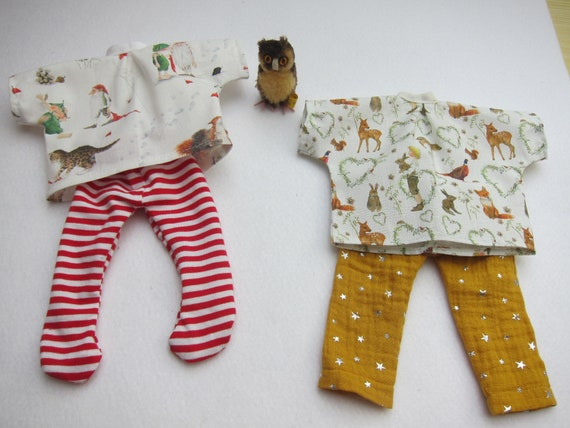 Doll Clothing acufactum Tunica Forest boy or Gisbert with dwarf and stockings or pants for Waldorf dolls in size 30-35cm