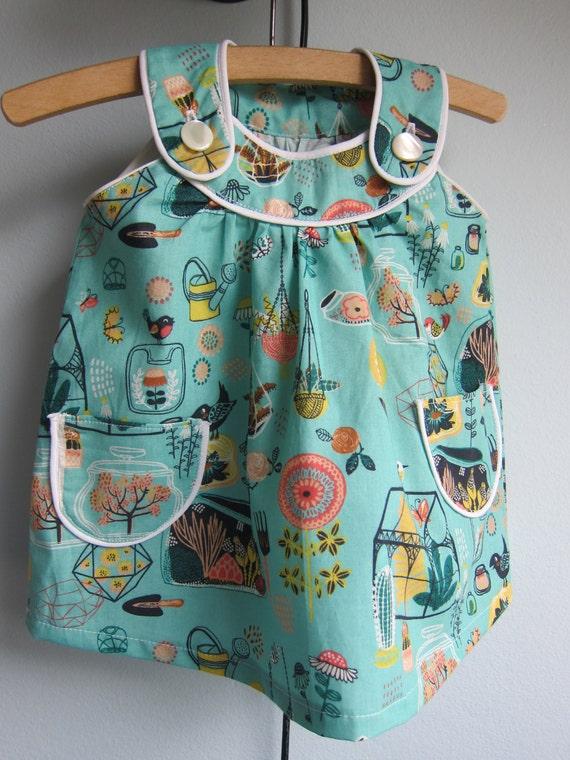 Hidden Garden ecological dress, Apron dress dress with pocket
