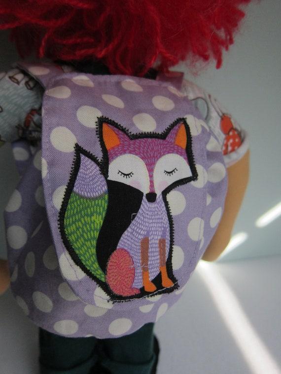 Fox Doll school bag and school cone, school begin, doll accessory