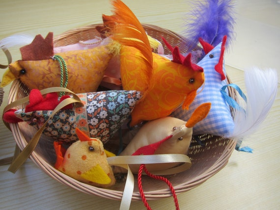 Fun Chickens and Baby Chicks, Spring Deco, Ornament, 15 inches, Easter, Mothers day, Valentine's Day, Present