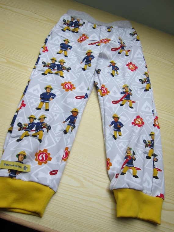 Fire Brigade kids trousers, Firefighters Kids pants, toddler's leggings, children's pants, unisex leggings, Made to Order,