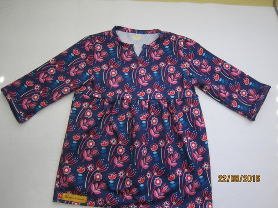 Longarm Blueberry Jersey dress, Girls US size 4T