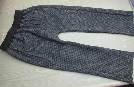 """Slip on pants kids trousers, """"dirty herringbone""""  Size 7 years- (Eu 122)"""