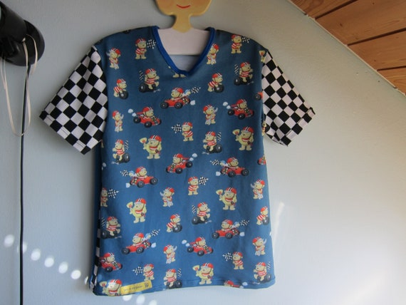 Pit Stop car race t-shirt,  Tee shirt unisex Grandprix top teddies 128, 8 years tee