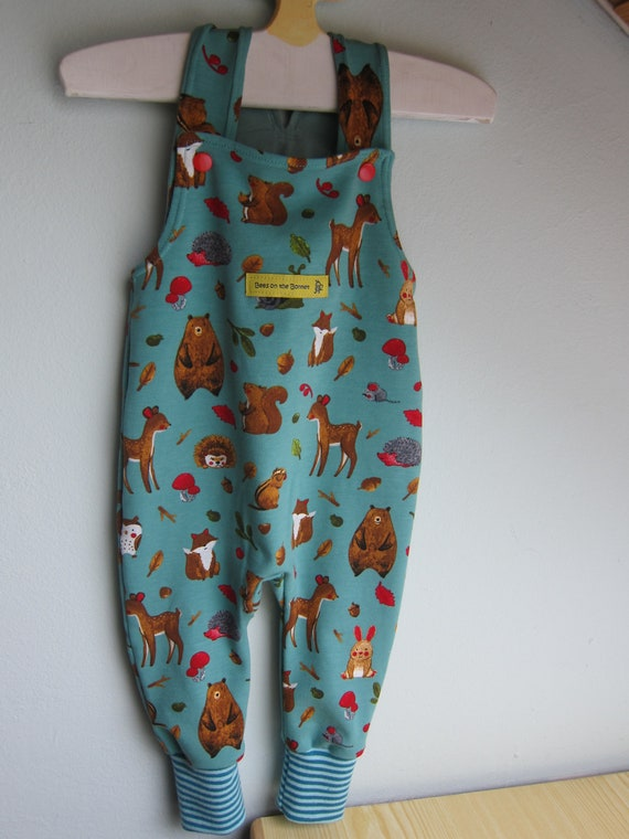 Ecological baby rompers Forest animals motive size in different sizes