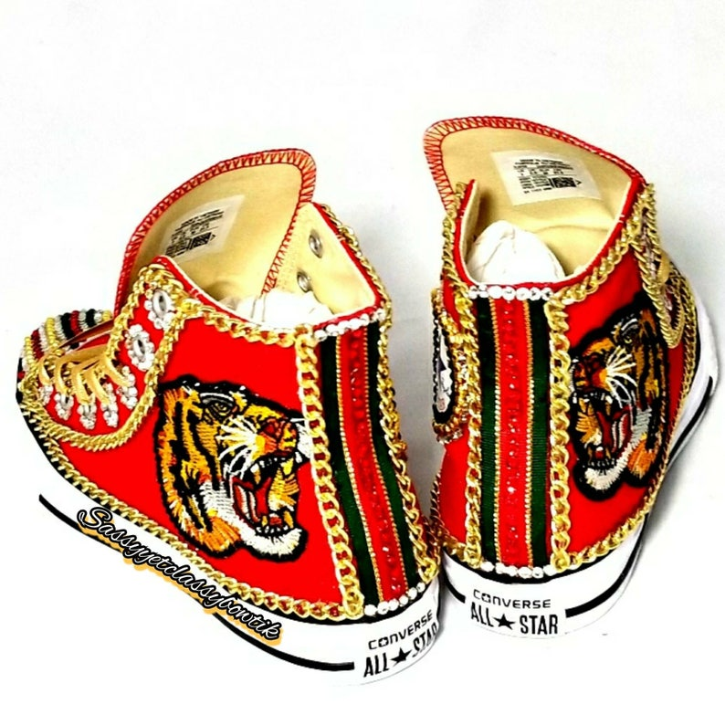 Gucci Inspired custom shoes bling strass sneakers  c208bb95d