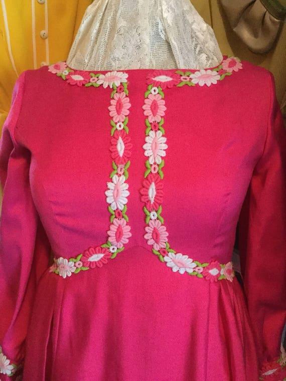 Fushia daisy dress