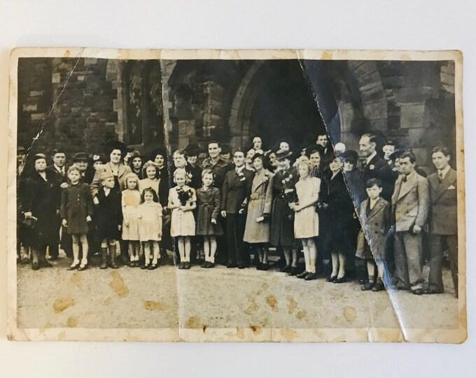 Old Vintage Wedding Photograph Ephemera For Paper Crafting Scrapbooking Junk Journaling and Decoupage