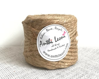 Roll Thick 6mm Rope Twine | Sisal Rope | Hemp Rope | 100% Natural Twine Rope | Sold By The Roll