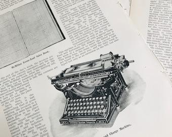 Vintage Typewriters Assorted Book Pages | BP00076