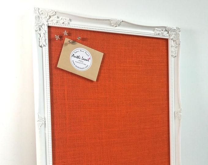 Orange Bulletin Board | Orange Notice Board | Orange Home Decor | Orange Decor | Orange | Orange Accessories | Kitchen Decor | Office Decor