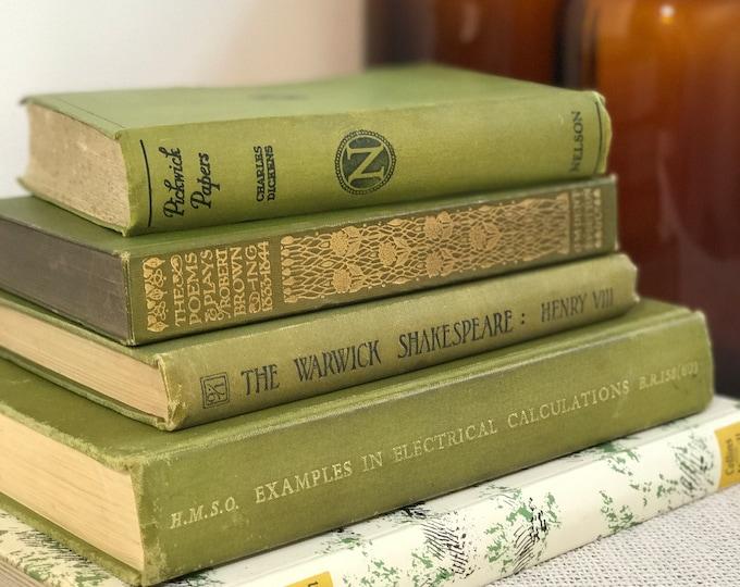 Olive Green Books | Olive Green Decor | Olive Decor | Olive Green Home Decor | Green Interior Design | Green Props | Olive Green