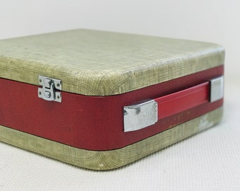 Ever Ready Portable Music Case 1950s - 60s | Small Square Travel Case | Wedding Card Case | Small Vanity Case | Make Up Case Vintage Luggage