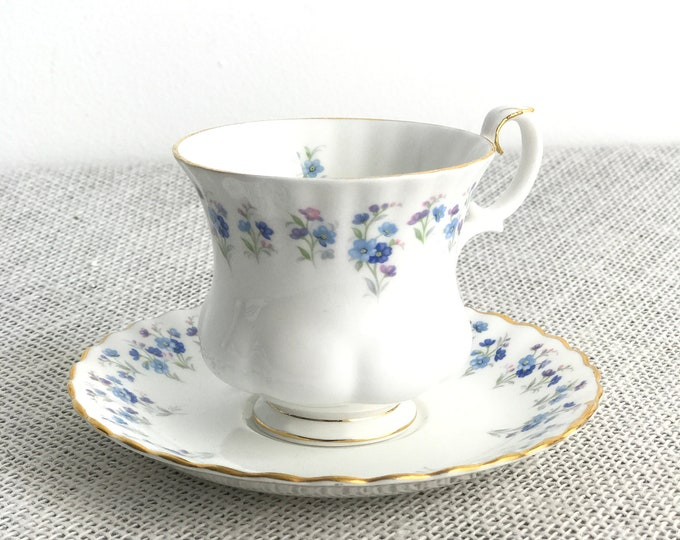 Demitasse Coffee Cup | Royal Albert | Memory Lane | Bone China Tea Cup | Vintage Demitasse Cup and Saucer | Small China Coffee Cup
