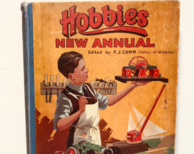 Hobbies New Annual Circa George Newnes Ltd, Strand Circa 1930 Vintage Boys Hobby Annual
