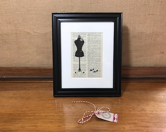 Fashion Print | Sewing Print | Pretty Bedroom Decor | Framed Sewing Print | Dictionary Art Print | Bedroom Decor | Girls Room Decor