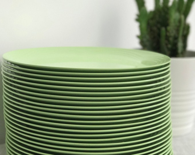 Vintage Melamine Plates Mint Green Dinner Plates Retro Picnic Plates For Campervan Glamping Gift Idea Homeware Retro Home Ware Stack