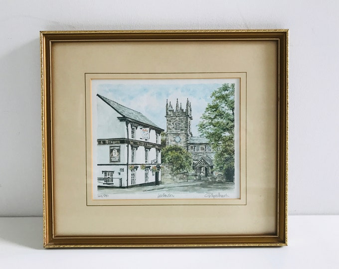 Wilmslow Philip Martin Signed Limited Edition Framed Lithograph Watercolour Print Number 265/850