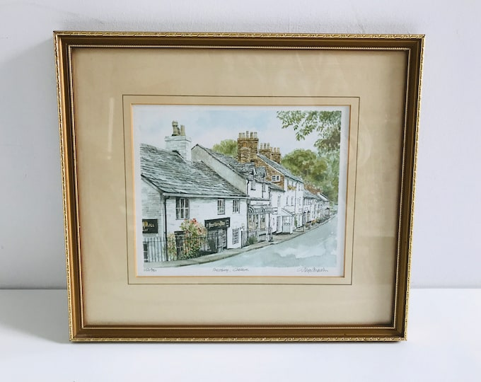 Prestbury Cheshire Philip Martin Signed Limited Edition Framed Lithograph Watercolour Print Number 253/850